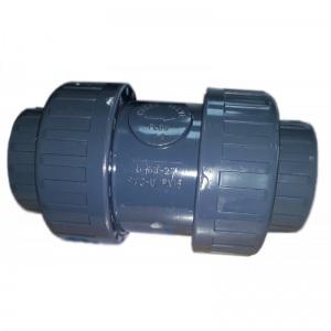 Обратный клапан 2-х муфтовый подпружиненный ПВХ Pool King 1,0 МПа d_63 мм /USC0263/ арт. USC01063