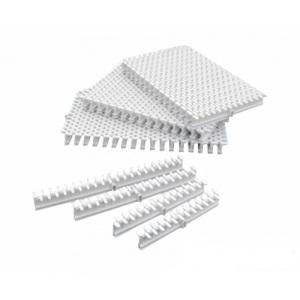 Переливная решетка Emaux DE c центральным соединением, размер 300 x 30 мм, цвет белый арт. DE2630