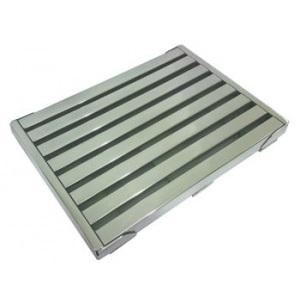 Переливная решетка продольная Аквасектор гибкая, 500 x 295 x 25 мм, AISI-316L арт. АС 02.403/L