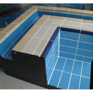 Плитка керамическая противоскользящая Aquaviva YC1-1WA, цвет сине-голубой арт. YC1-1WA