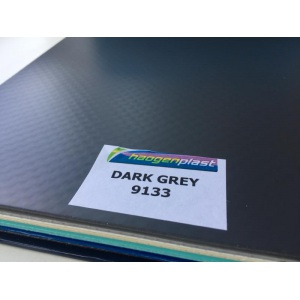 Плёнка ПВХ однотонная Haogenplast Ogenflex Dark grey 9133 (тёмно-серая)