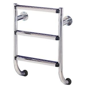 Лестница Flexinox без поручней 5 ступеней (нержавеющая сталь, ступени люкс) AISI-304 ESC PT /871500355/ арт. 87150355