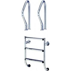 Поручни Flexinox из нержавеющей стали для лестницы ESC PT (2 шт.) /87100319/ арт. 87100319