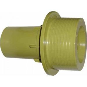 Проход стеновой для форсунки 2′ в пленочных бассейнах, 150 мм, подключение 50/63 мм, отверстия для винтов во фланце М5, пластик / MTS Produkte