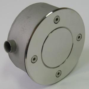Распаячная коробка круглая D=115 мм, без обжима Акватехника АТ 07.03 (универсальный монтаж), AISI-304 арт. АТ 07.03