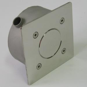 Распаячная коробка квадратная 120х120 мм Акватехника АТ 07.06, под PG-16 (универсальный монтаж), AISI-304 арт. АТ 07.06