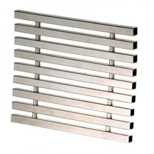 Решетка перелива Xenozone 240*20 мм нержавеющая сталь AISI-304 гибкая матовая / РПг.24.0 арт. РПг.24.0
