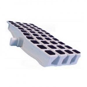 Решетка переливная противоскользящая Emaux Anti Slip цветная волна, цвет: чёрный, 250 x 26,5 мм