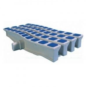 Решетка переливная противоскользящая Emaux Anti Slip цветная волна, цвет: синий, 250 x 26,5 мм