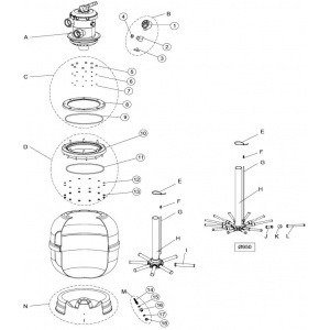 Гайка M6 для горловины фильтра IML FS / FT (поз. 13) арт. FS7012206000