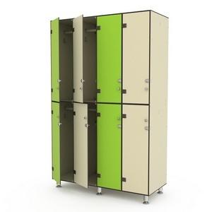 Шкаф четырехсекционный двухъярусный 4-1 Птк-Спорт