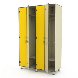Шкаф четырехсекционный одноярусный 4-1 Птк-Спорт
