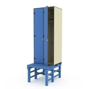 Шкаф двухсекционный на скамье-подставке 2-1 Птк-Спорт