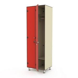 Шкаф двухсекционный одноярусный 2-1 Птк-Спорт