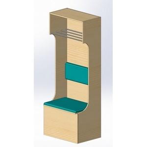 Шкаф-сидение из пластика ПТК-Спорт арт. 040-4323