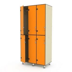 Шкаф трехсекционный двухъярусный 3-1 Птк-Спорт