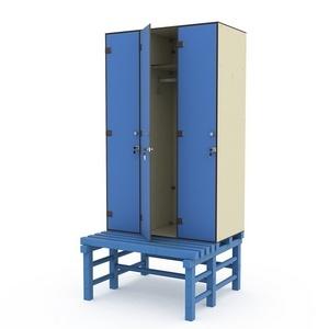 Шкаф трехсекционный на скамье-подставке 3-1 Птк-Спорт