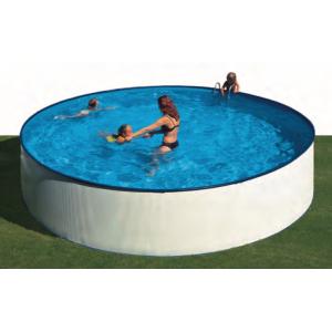 Сборный бассейн GRE Lanzarote круглый, Ø 450 x 90 см, 12,71 м3, с фильтром и лестницей, цвет белый арт. KITWPR452E