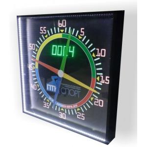 Секундомер 4-х стрелочный ПТК-Спорт с подсветкой и встроенными электронными часами СтС-4.91П