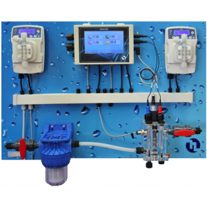 Система автоматического дозирования Etatron eOne Guard Touch pH/Rx/Cl/T, 0–2 ppm (панель в сборе), pH: 6 л/ч – 7 бар, Cl: 15 л/ч – 5 бар арт. QPA8K11338ER