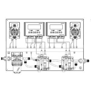 Система дозирования PG MAX PH/RX/CL/T/CL TOTAL Sonda 5 л/ч - 7бар
