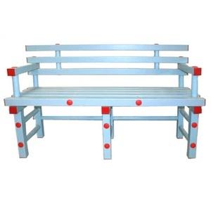 Скамья со спинкой и подлокотниками ПТК-Спорт, 1300х420х450 мм арт. 011-0441