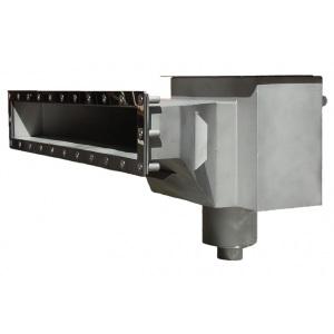 Скиммер Xenozone с камерой долива и расширенной горловиной L=600 мм (под плёнку) AISI-304 арт. СК.15.8