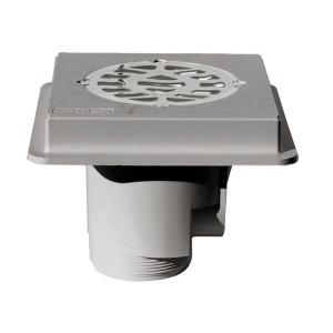 Слив донный MTS Produkte, диаметр 110 мм, внутренняя резьба 2′, цвет серый, под плитку