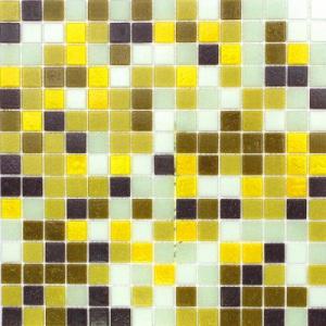 Смесь из стеклянной мозаики JNJ Gold JC116 (плитка 20x20 мм)