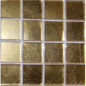 Стеклянная мозаика JNJ Gold золото гладкое желтое (плитка 20x20 мм)