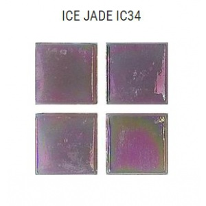 Стеклянная мозаика JNJ Ice Jade IC34 (плитка 15x15 мм)