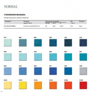 Стеклянная мозаика JNJ Normal D198 (тон 1) (плитка 20x20 мм)