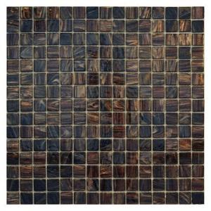 Стеклянная мозаика с авантюрином JNJ Gold Link GC44 (плитка 20x20 мм)