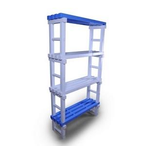 Стеллаж ПТК-Спорт, 1000х345х1800 мм (цвет: аквамарин с синими заглушками) арт. 011-2473