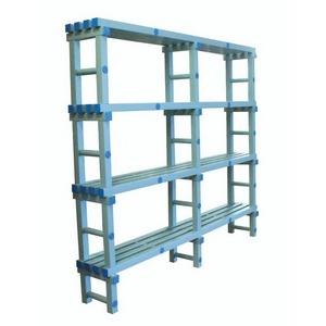 Стеллаж ПТК-Спорт, 1000х345х1800 мм (цвет: бело-синий) арт. 011-0489
