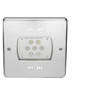 Светодиодный прожектор Hugo Lahme 21 LED RGB 2,0, 24 В квадратная рамка 270х270 мм из нержавеющей стали, кабель 2,5 (цветной, 7200 люмен) арт. 40800220