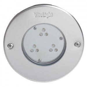 Светодиодный прожектор Hugo Lahme 9 LED 2,0 24 В круглая рамка Ø146 мм из нержавеющей стали, кабель 2,5 м (холодный белый, 4250 люмен) арт. 40300020