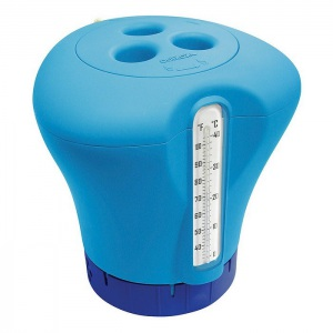 Термодозатор 2 в 1 Синий Kokido Плавающий дозатор с термометром. 5 таблеток 75 мм