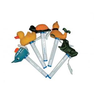 Термометр с игрушкой (кораблик, тюлень, черепашка, лягушка, утка)