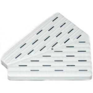 Угловая плитка для переливной решетки 45° H=35 мм.