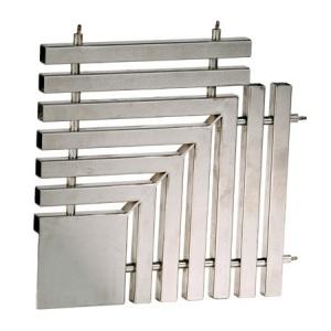 Угловая плитка Xenozone 90 градусов для переливной решетки 195*35 мм нержавеющая сталь AISI-304 /РП.19.91 арт. РП.19.91
