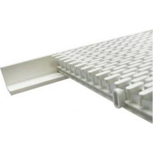Уголок монтажный для переливной решетки Emaux, размер 2 м / планка, цвет белый