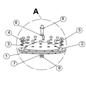 Гайка 3/4' для трубки манометра фильтра IML Teide (поз. 9) арт. VFS0497-1204