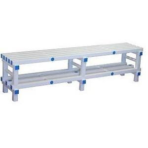 Усиленная двухуровневая скамья ПТК-Спорт, 2000х420х450 мм (цвет: бело-синий), возможны другие цвета из палитры арт. 011-3225