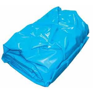 Вкладыш для бассейнов MTH в форме восьмерки, 5,25 x 3,2 м, высота 1,5 м, толщина пленки 0,6 мм, цвет синий, зажимной монтаж арт. 2912100