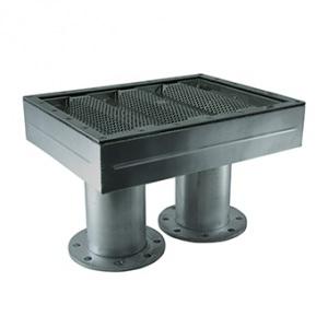 Водозабор Аквасектор, 120 м³/ч, подключение фланцевое 2 х DN110, под плёнку, AISI-304 арт. АС 08.120