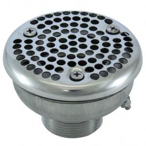 Водозабор Аквасектор круглый, 8 м³/ч, подключение НР 1 1/2′, под плёнку, AISI-304 арт. АС 08.008