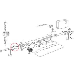 Заглушка (муфта) вала сматывающего устройства VagnerPool арт. V600-10