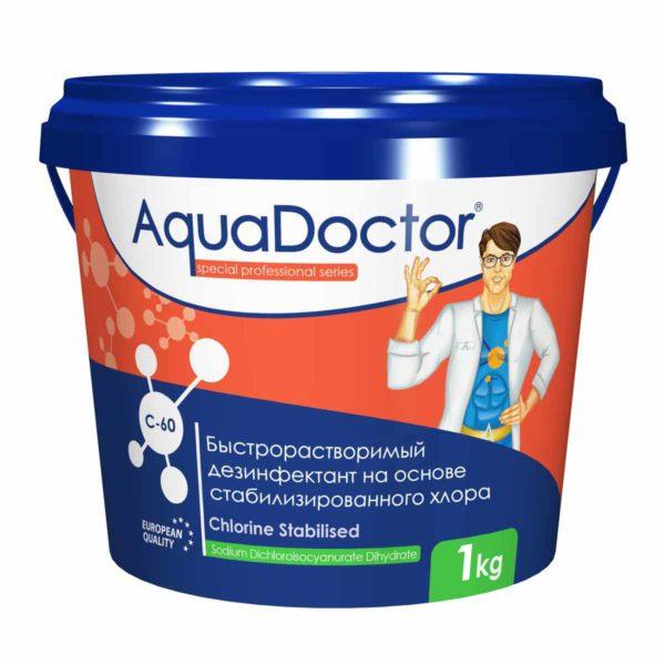 Дезинфектант AquaDoctor C-60 гранулы, 1 кг