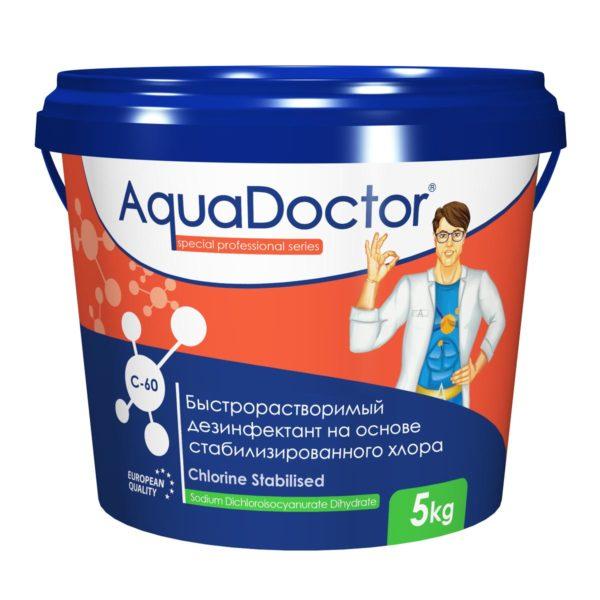 Дезинфектант AquaDoctor C-60 гранулы, 5 кг